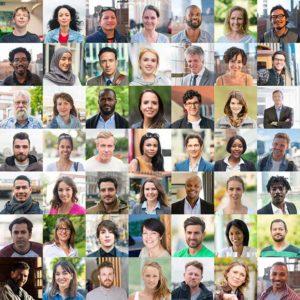 Viele verschiedene Gesichter der Gesellschaft